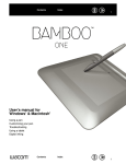 Wacom BAMBOO PEN AND TOUCH User`s manual