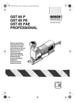 Bosch GST 85 P Operating instructions