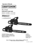 Craftsman Incredi-Pull 316.794450 Operator`s manual
