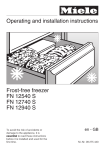 Operating and installation instructions Frost-free freezer FN
