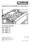 Operating and installation instructions Frost