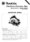 Makita 5600DW Instruction manual