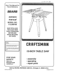 Craftsman 113.298760 Owner`s manual