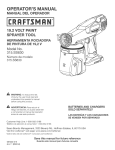Craftsman 315.SS630 Operator`s manual