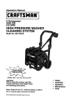 Craftsman 580.768030 Operating instructions