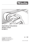 Miele B 895 D Operating instructions