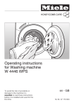 Miele W 930i Operating instructions