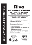 QUINCY HYDRONIC TECHNOLOGY Riva ADVANCE COMBI User manual