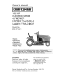 Craftsman 917.271631 Owner`s manual