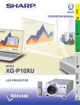 Sharp Notevision XG-P10XU Operating instructions