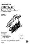 Craftsman 315.116164 Owner`s manual