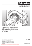 Miele W 1740 Operating instructions