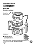 Craftsman 315.175140 Operator`s manual