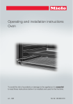 Operating and installation instructions Oven