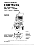 Craftsman 919.762350 Owner`s manual