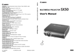 Canon Projectors User`s manual