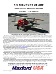 Maxford USA RC Model Nieuport 28 Instruction manual