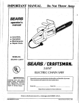 Craftsman 358.34110 Operator`s manual
