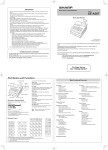 Sharp XE-A307 User manual