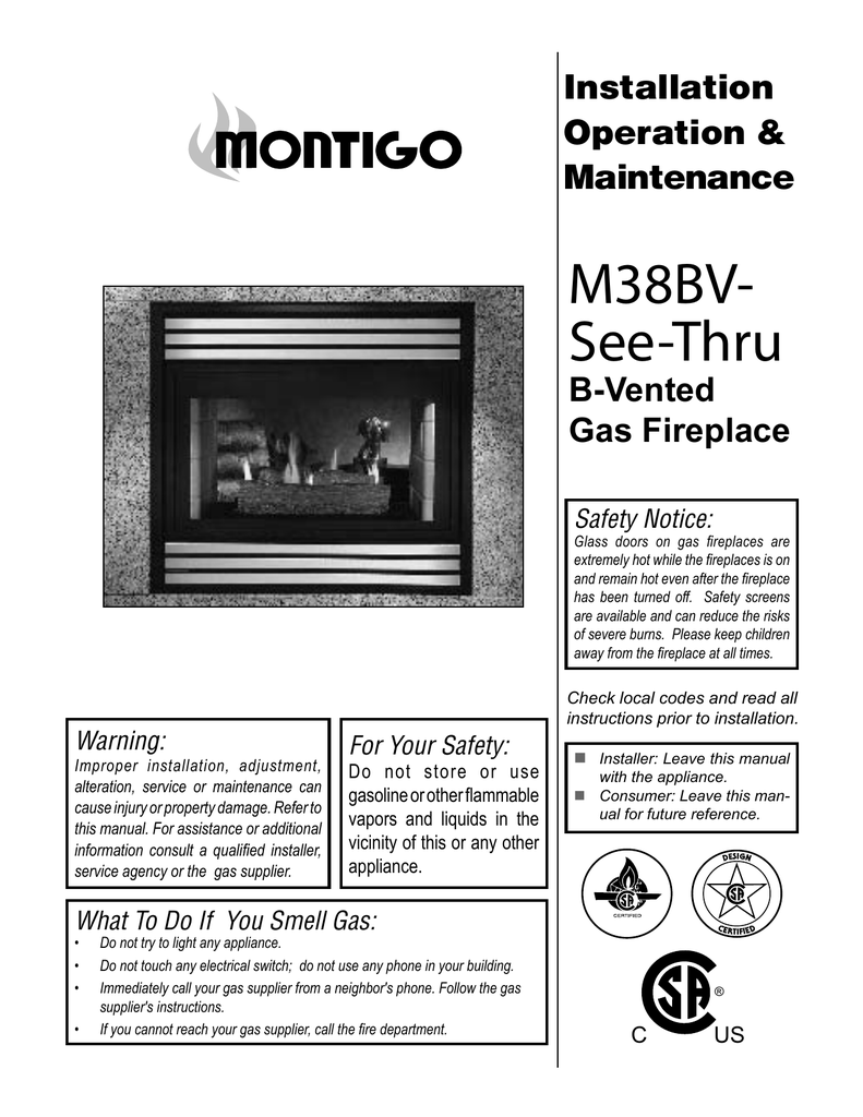 Montigo M38bv St See Thru Specifications