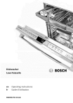 Bosch HV68T53UC Troubleshooting guide