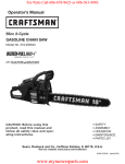 Craftsman 9096-31B202 316350840 Operator`s manual