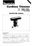 Makita 3700D Instruction manual