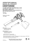 Craftsman 138.74899 Operator`s manual