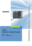 Siemens TC65 Specifications