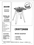 Craftsman 113.239390 Operating instructions