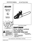 Craftsman 358.356242 Operator`s manual
