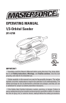 MasterForce 241-0794 Owner`s manual