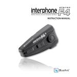 Blueant interphone F4 stereo Instruction manual