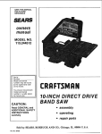 Craftsman 113.244512 Owner`s manual