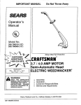 Craftsman 358.798090 Operator`s manual