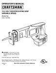 Craftsman 315.115740 Operator`s manual