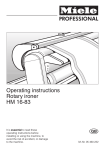 Miele HM 16-83 Operating instructions
