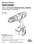 Craftsman 315.114850 Operator`s manual