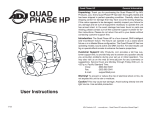 ADJ Quad Phase HP Instruction manual