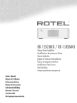 Rotel RB-1582MKII Owner`s manual