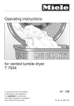 Miele T 7934 Operating instructions