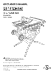 Craftsman 315.218061 Operator`s manual