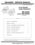 Sharp ER-A530 Service manual