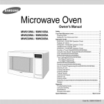 Samsung MW610BA Owner`s manual