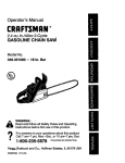 Craftsman 358.351580 Operator`s manual