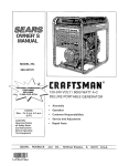 Craftsman DELUXE 580.327071 Owner`s manual
