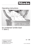 Miele T 7644 C Operating instructions