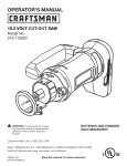 Craftsman 315.115820 Operator`s manual