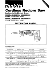 Makita JRl8ODWBE Instruction manual