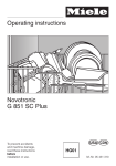 Miele NOVOTRONIC G 851 Operating instructions